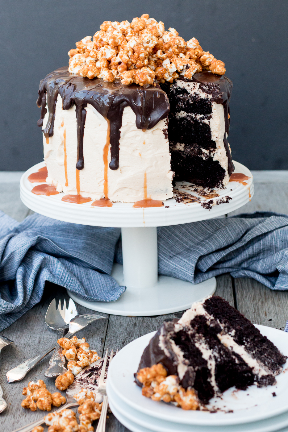 Triple Layer Chocolate Cake With Salted Caramel