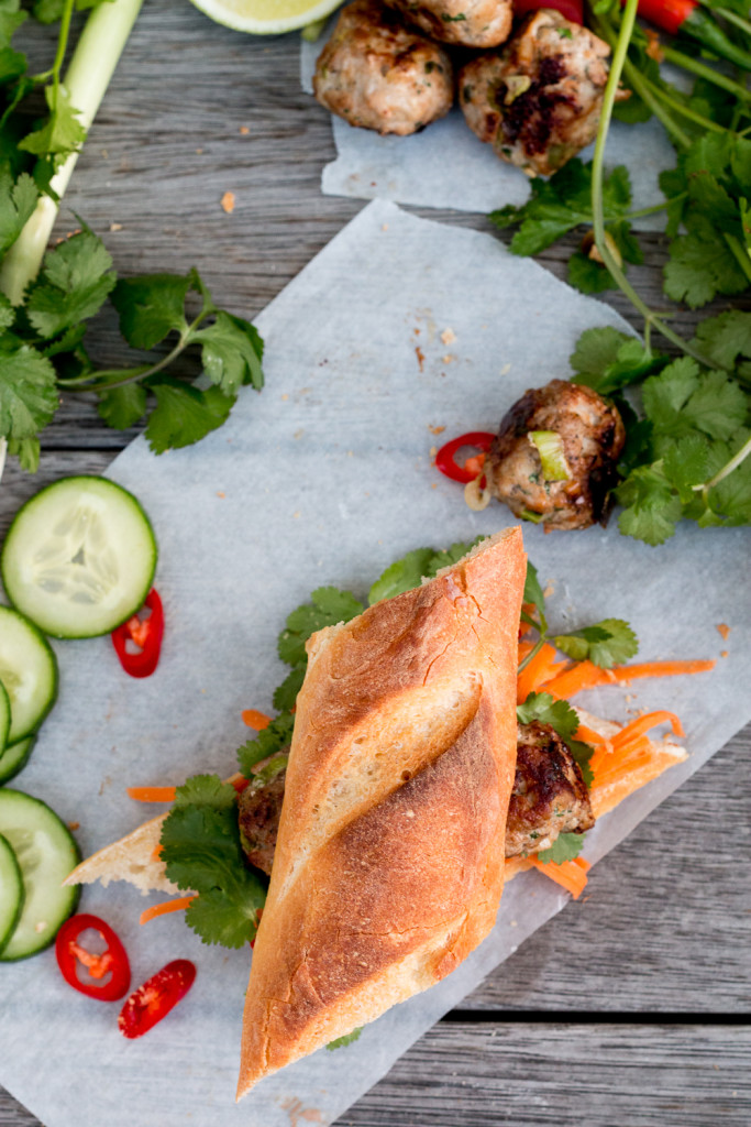 Vietnamese Pork Meatball Banh Mi - The Brick Kitchen