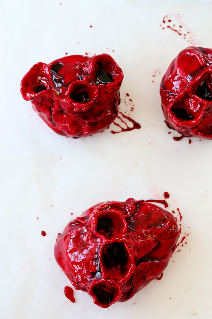 Gory Bleeding Heart Cakes The Brick Kitchen