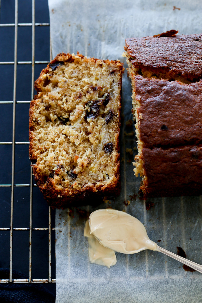 Chocolate Chunk Banana Bread With Espresso Mascarpone