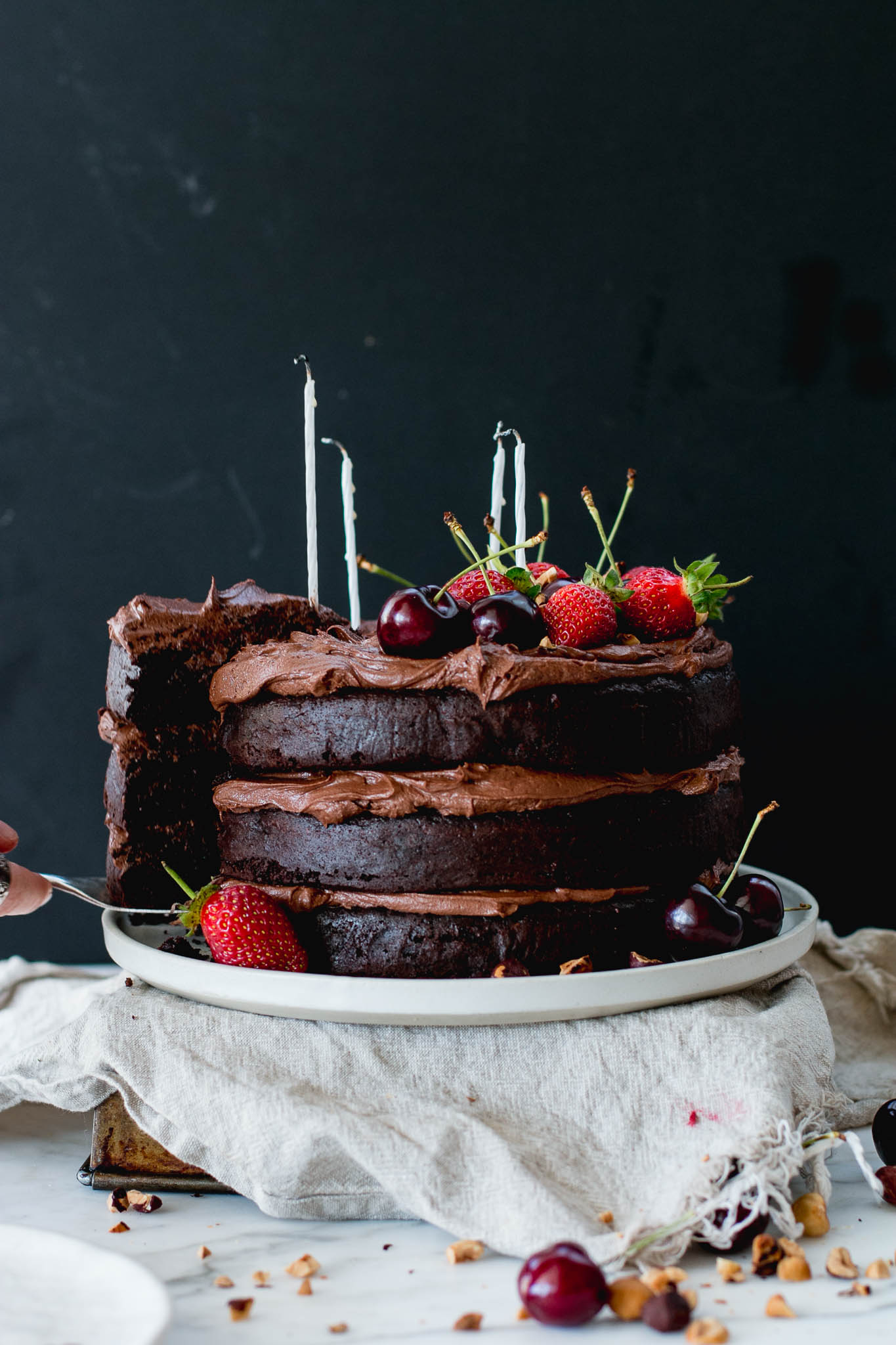 Flourless Chocolate Hazelnut Layer Cake | The Brick Kitchen